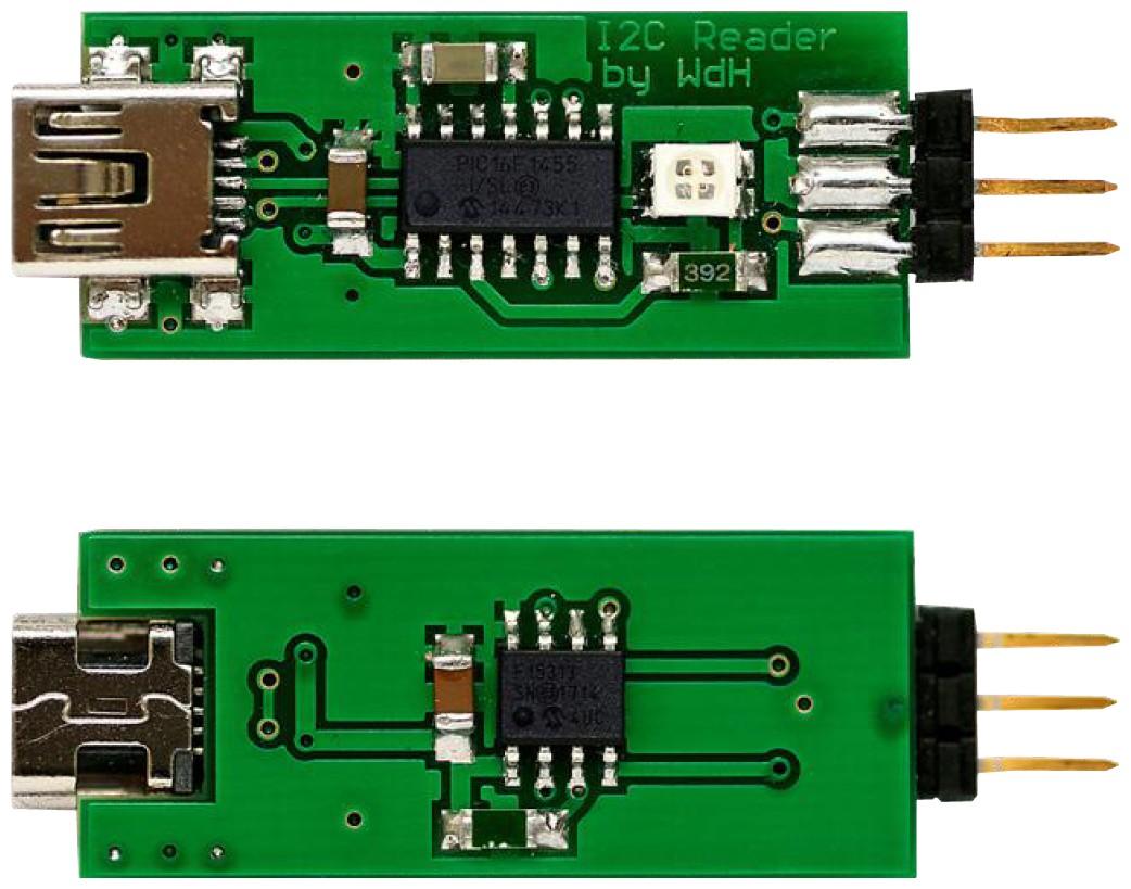 Figura 3: il lato superiore e inferiore del PCB basato su componenti SMD