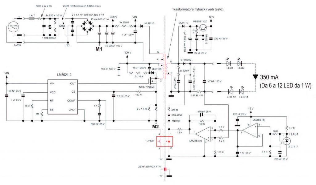 Figura 5: schema elettrico completo del convertitore.