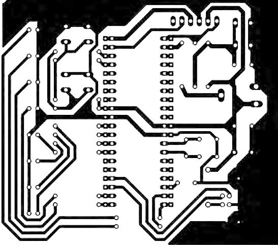 Figura 10: circuito stampato lato saldature.