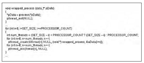 Figura 3: codice parallelizzato ma inefficiente.