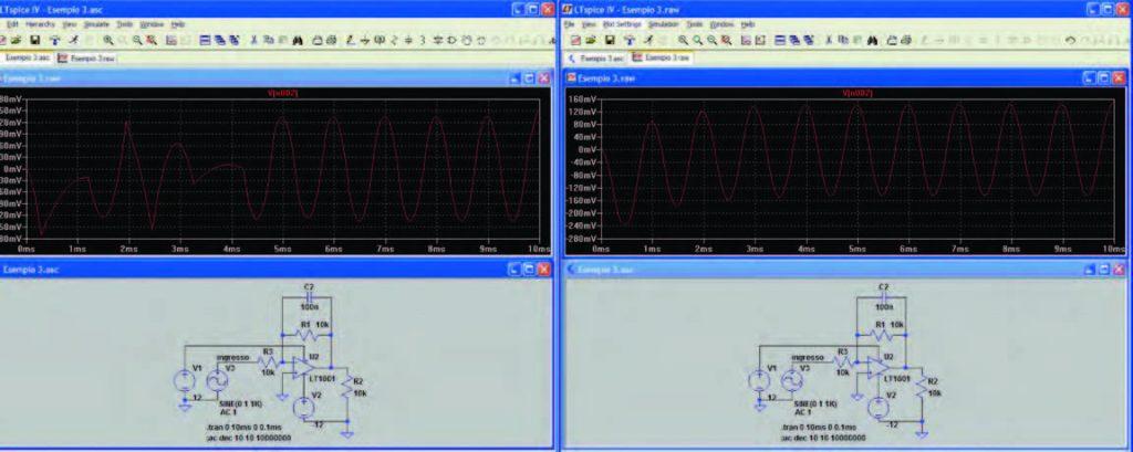 Figura 11: confronto tra i risultati di una simulazione caratterizzata da scarsa accuratezza e della stessa simulazione impostata con una maggiore accuratezza.