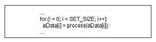 Figura 2: esempio di codice facilmente parallelizzabile.