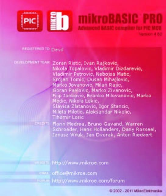 Figura 1: il compilatore mikroBASIC PRO utilizzato