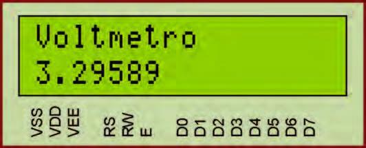 Figura 3: il display visualizza la tensione di 3,29 Volt.