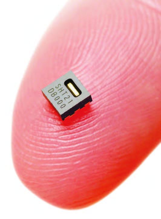 Figura 10: l'SHT21 di Sensirion è il più piccolo sensore di umidità al mondo.