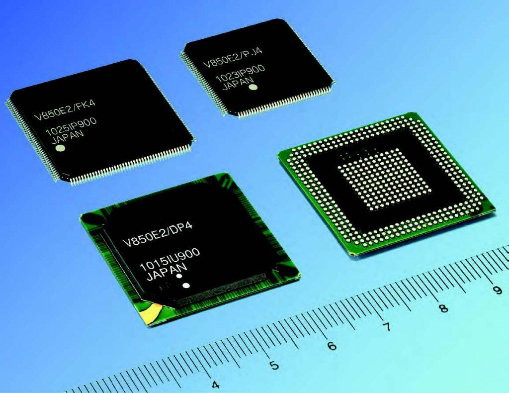 Figura 1: la quarta generazione di micro basati su CPU V850.