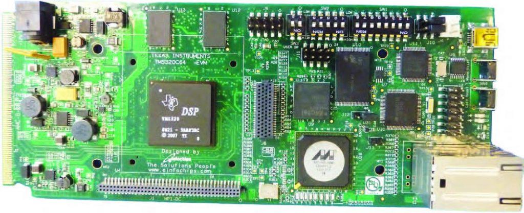 Figura 3: la scheda di sviluppo TMS320C6457 Lite.