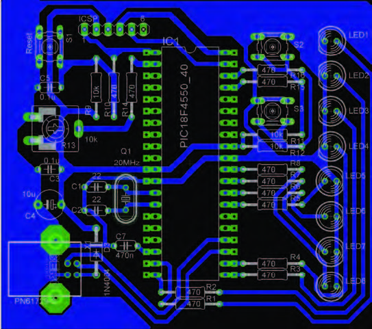 Figura 9: layout dei componenti.