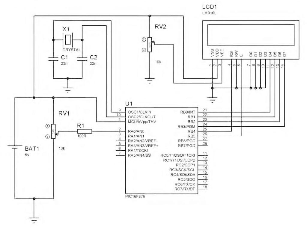 Figura 2: lo schema elettrico di principio e funzionante.
