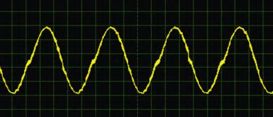 Figura 13: onda sinusoidale generata con il listato 3.