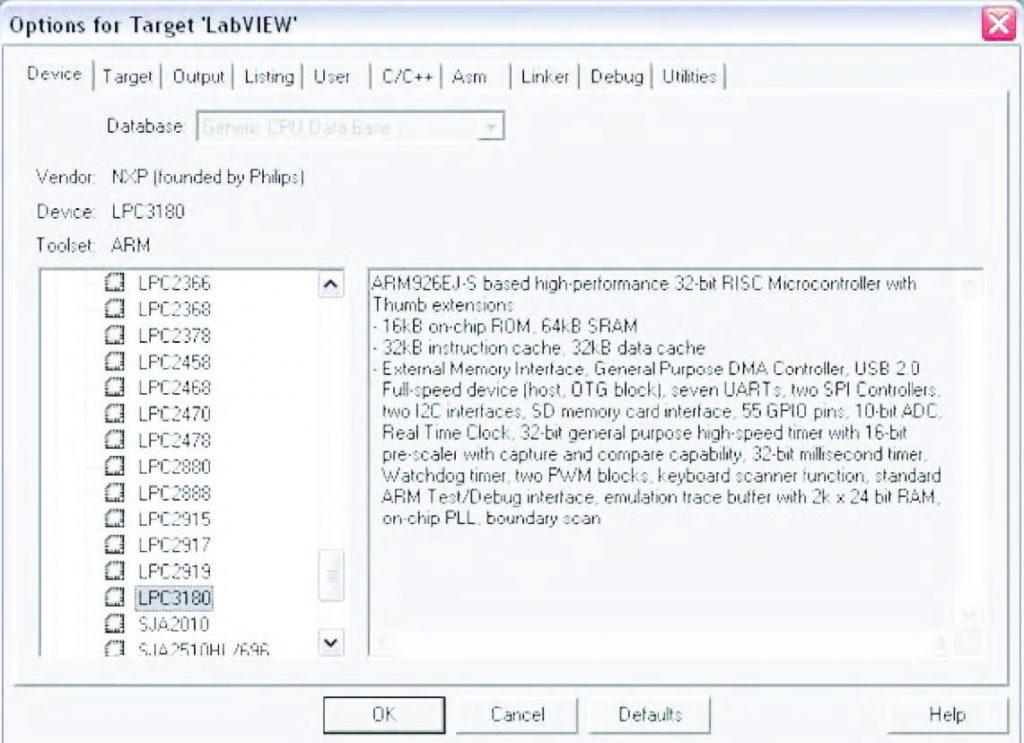 Figura 2: selezione delle CPU