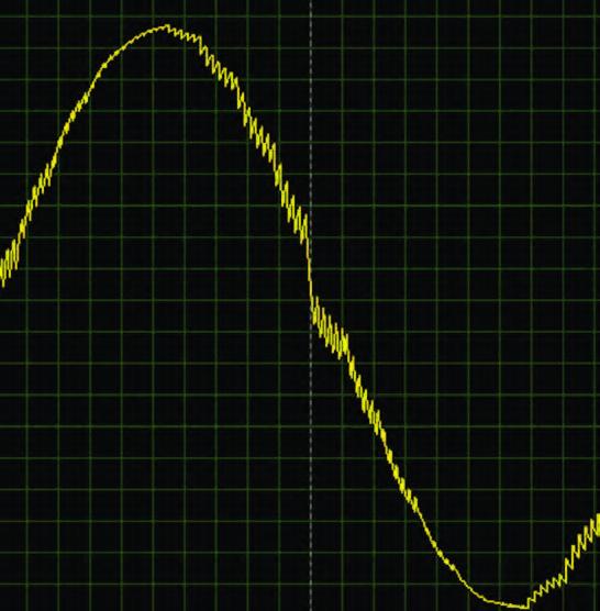 Figura 14: particolare ingrandito dell'onda sinusoidale.