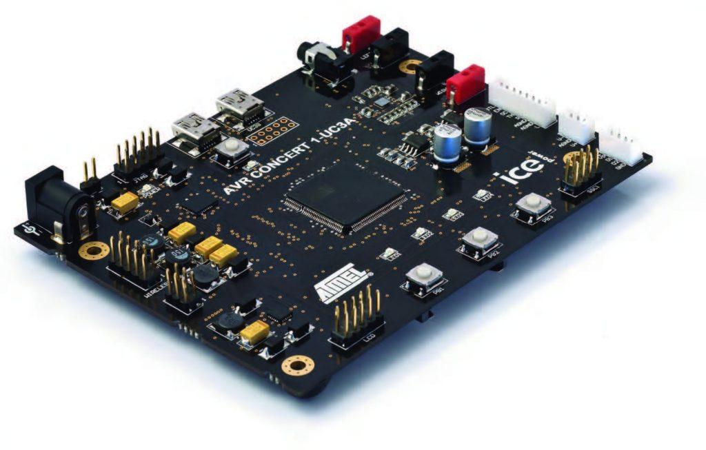 Figura 1: progetto di riferimento realizzato congiuntamente da Atmel e Bang & Olufsen per lo sviluppo di un'ampia gamma di dispositivi audio.