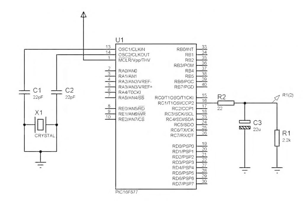 Figura 9: schema di principio con filtro d'uscita.