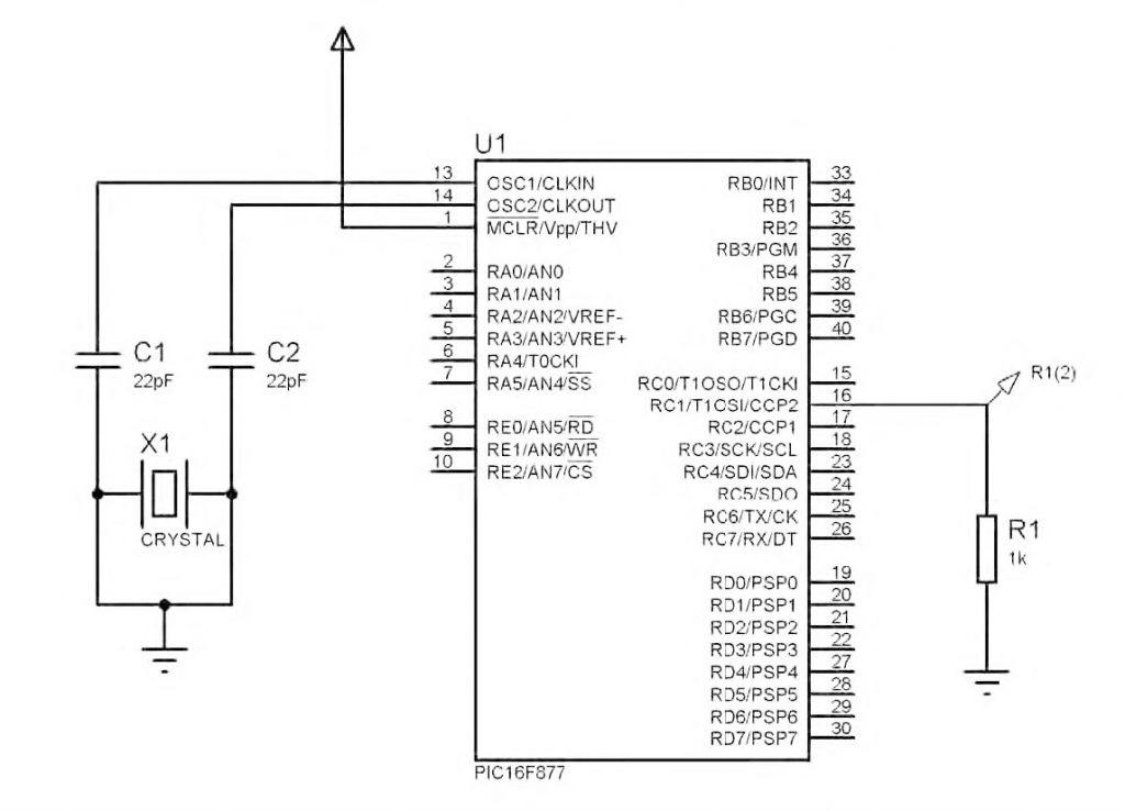 Figura 2: schema di principio senza filtro d'uscita.