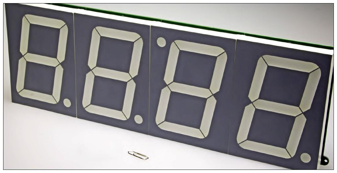 Figura 1: il grande display messo a confronto con una graffetta