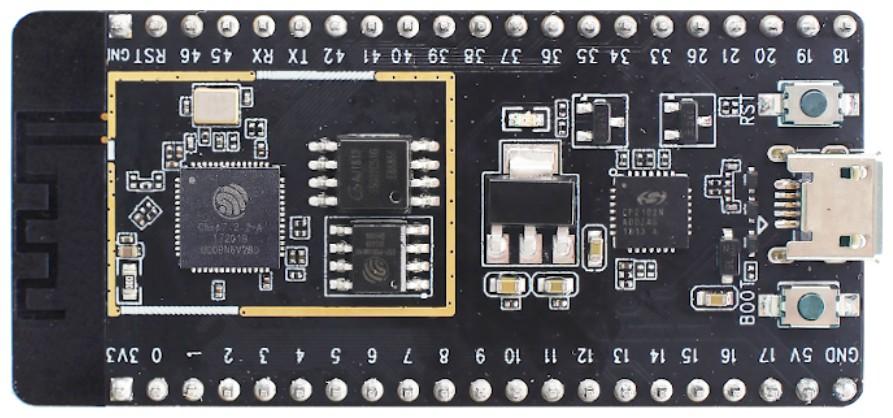 Figura 2: l'ESP32-S2 Beta-DevKitC V1.1 in distribuzione