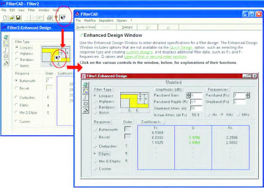 Figura 4: il pulsante Help consente di accedere ad una funzione interattiva attraverso la quale è possibile avere informazioni su qualunque area di qualunque form impiegato durante il flusso di progetto.