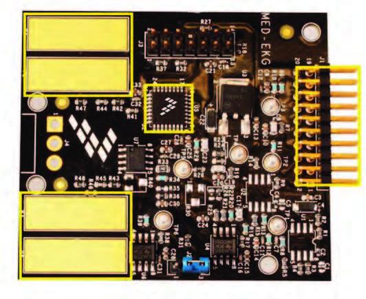 Figura 3: il sensore elettrocardiografico MED-EKG.