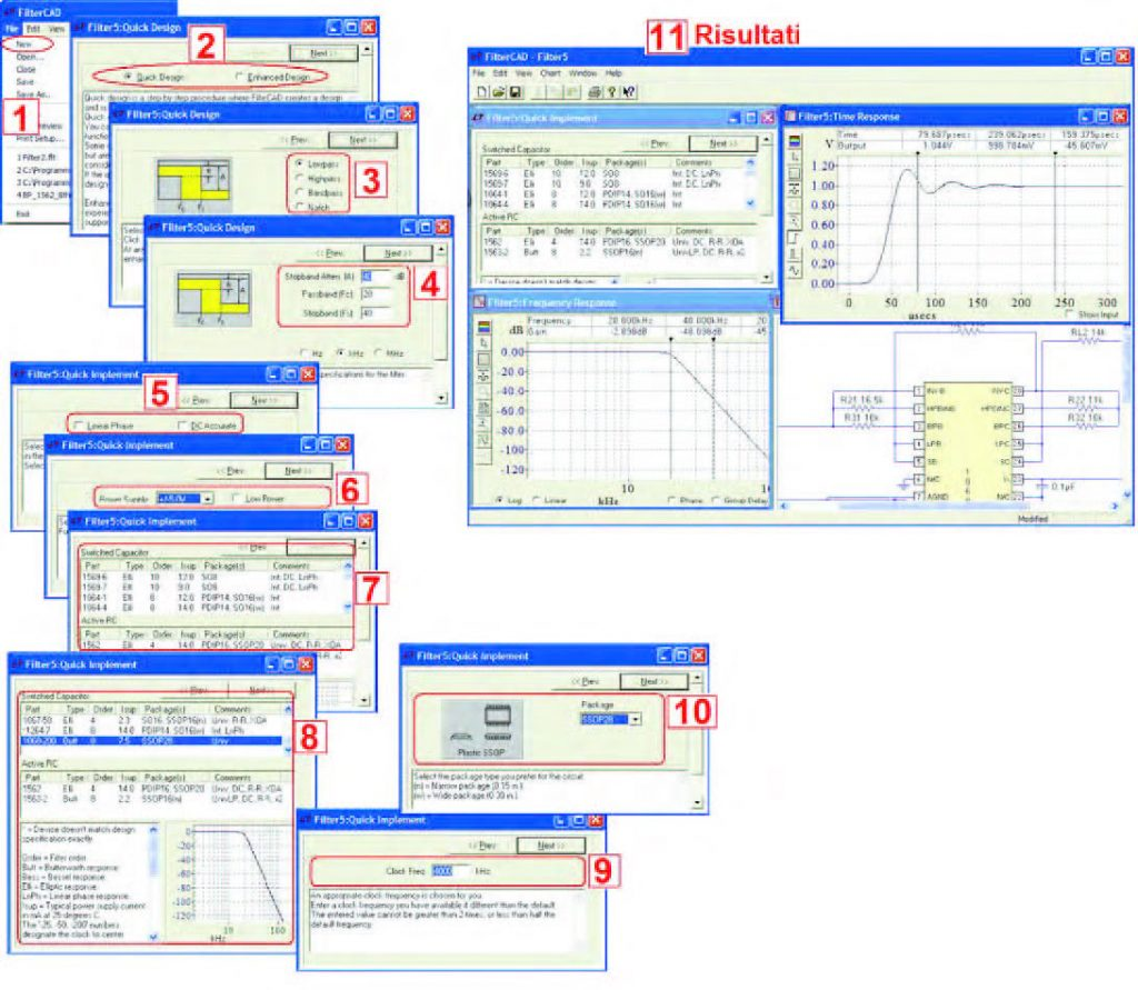 Figura 20: passi rappresentativi del processo di progetto Quick Design.