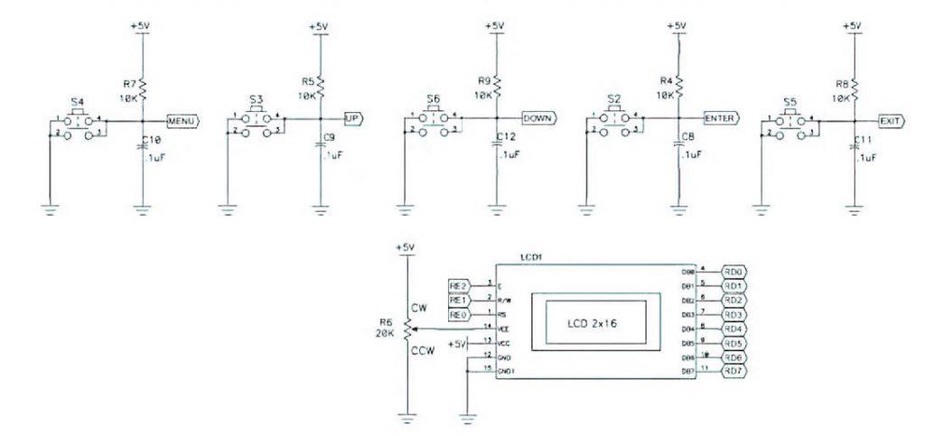 Figura 8: schema per LCD.