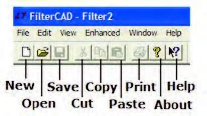 Figura 3: toolbar di FilterCAD 3.0.