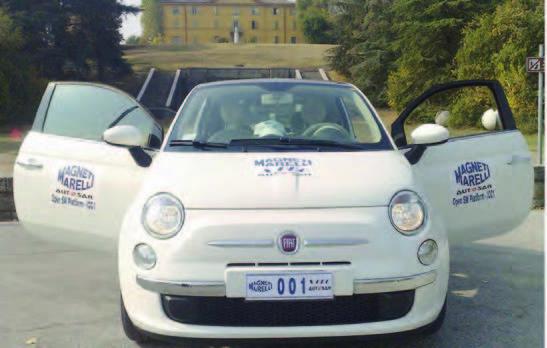Figura 7: Fiat 500 con AUTOSAR implementato da Magneti Marelli.