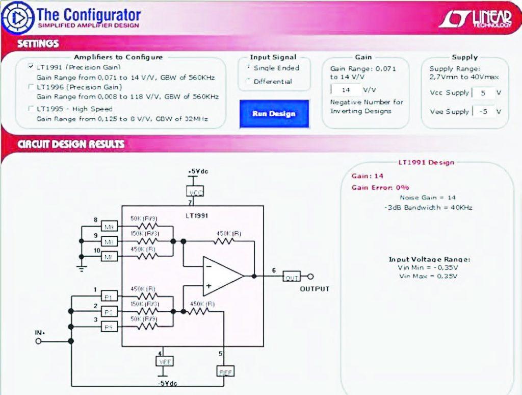 """Figura 16: attraverso il pulsante """"Run Design"""" si avvia la generazione della configurazione circuitale dell'amplificatore."""