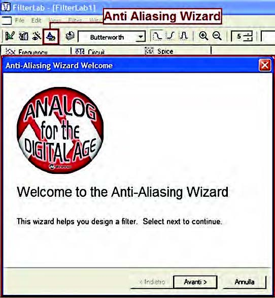 Figura16: avvio dell' Anti-Aliasing Wizard.
