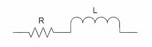 Figura 2: circuito equivalende di un induttore.