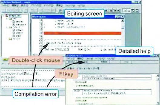 Figura 4: error jump e help dettagliato.