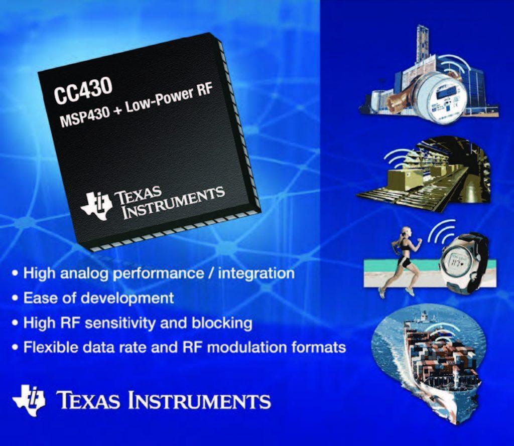 Figura 1: i micro CC430 di TI con periferica radio RF1A.
