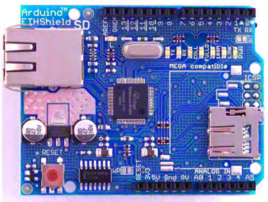 Figura 4: la scheda Ethernet Shield Arduino.