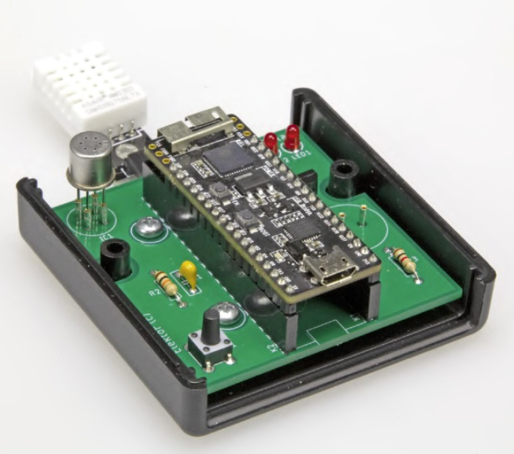 Figura 8: l'unità dotata del sensore di temperatura DHT22 e dell'ESP32