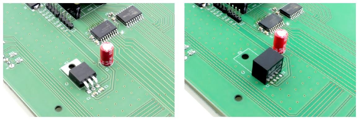 Figura 4: è possibile sostituire il 7805 con un convertitore CC/CC Würth