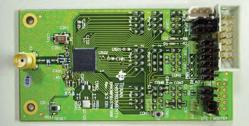 Figura 5: la scheda di sviluppo EM430F6137R F900 per CC430.