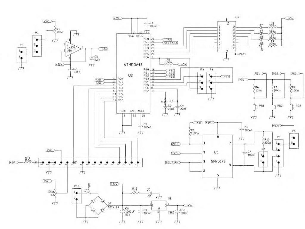 Figura 1: schema elettrico demoboard.