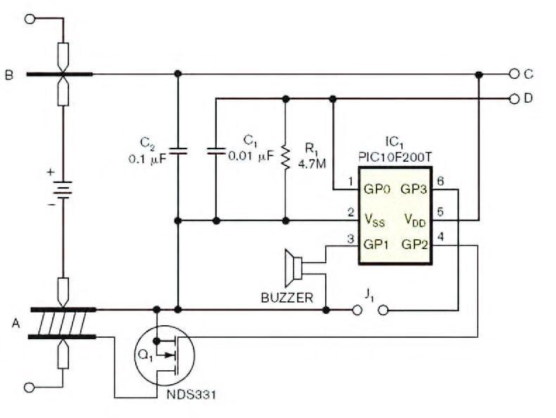 Figura 2: touch controller digitale per scollegare l'alimentazione di un dispositivo a batteria.