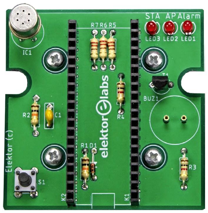 Figura 7: l'unità del sensore senza l'ESP32 e il sensore di temperatura e DHT22