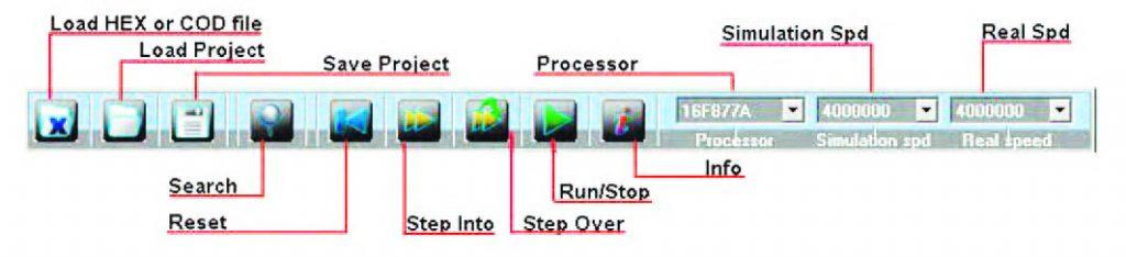 Figura 7: esploso dei comandi della Toolbar.