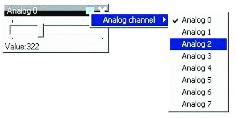 """Figura 17: esploso delle funzioni di impostazione di un """"Analog Tracker"""" virtuale."""