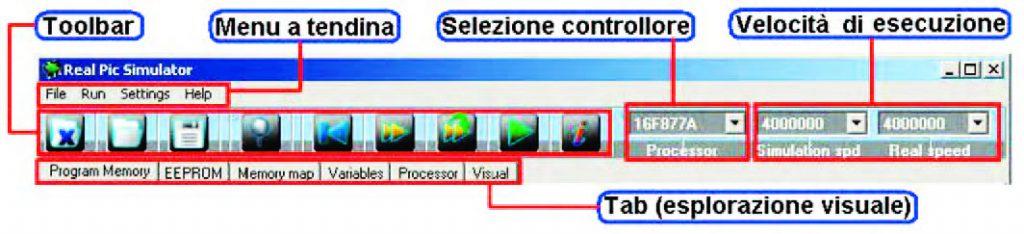 Figura 5: le funzioni sono accessibili attraverso i menu a tendina, i pulsanti della toolbar e i tab panel.
