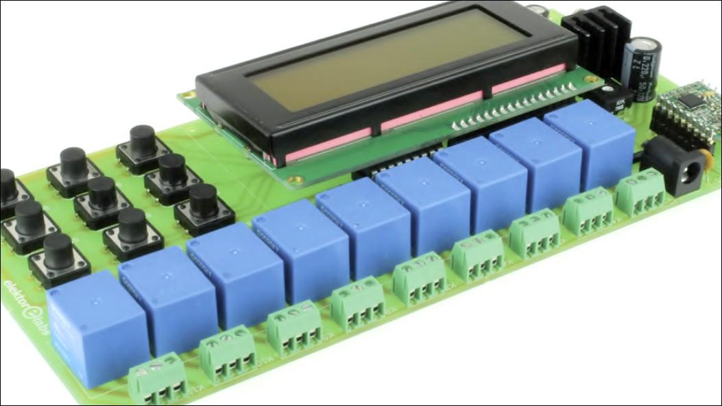 Figura 2: ognuno dei nove relè ha un contatto normalmente aperto (NO) e un contatto normalmente chiuso (NC), accessibile tramite un terminale a 3 pin
