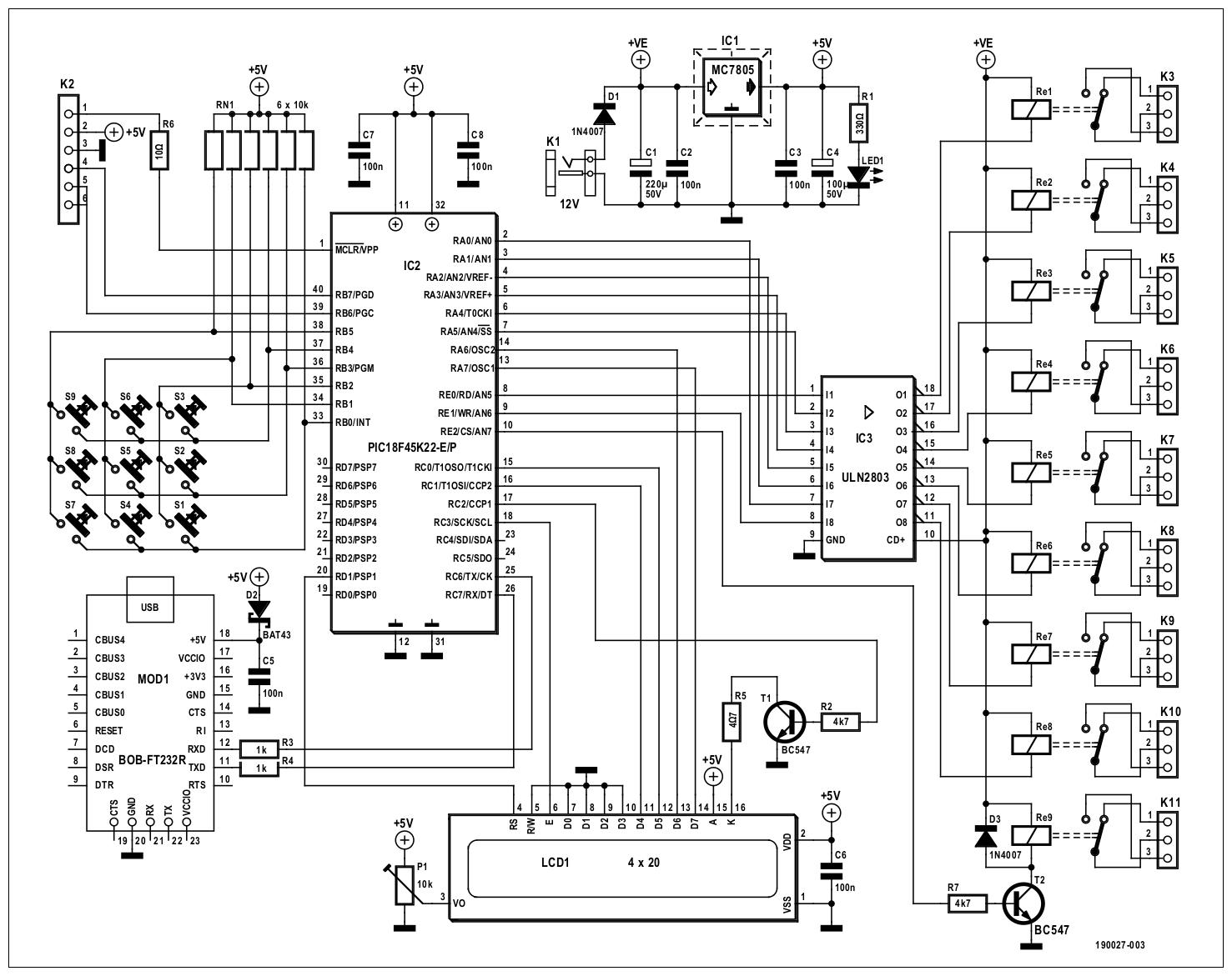 Figura 1: grazie alla potenza e alla funzionalità dei moderni circuiti integrati, in particolare i microcontrollori, sono necessarie solo poche parti per creare un utile dispositivo