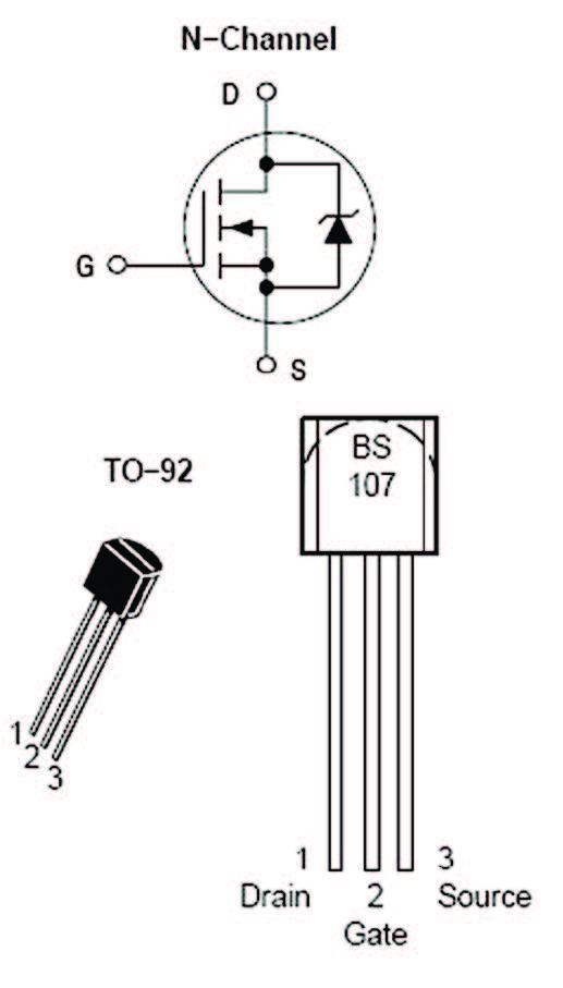 Figura 6: piedinatu ra del BS107A.
