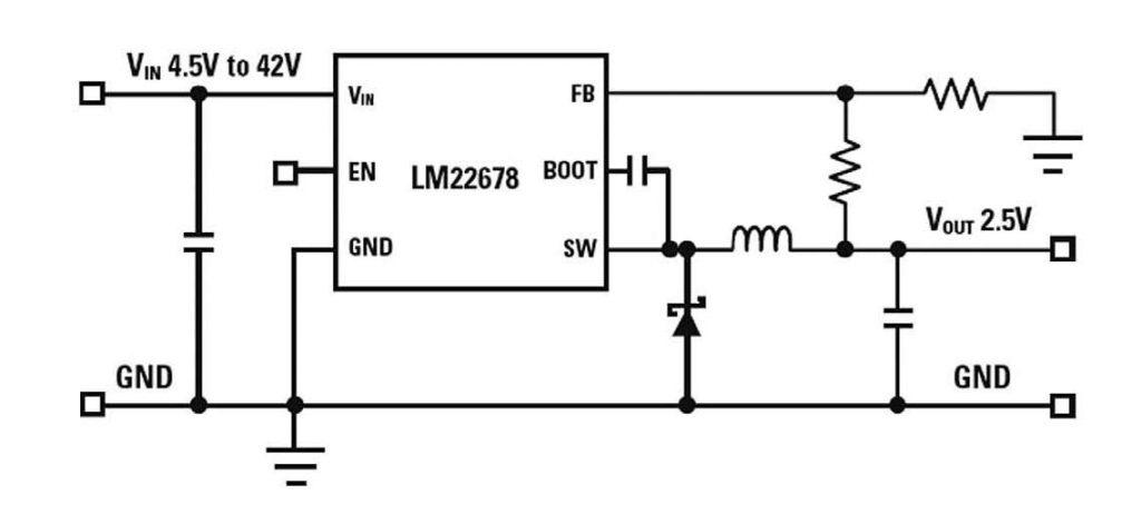 Figura 3: circuito di esempio con LM22678.