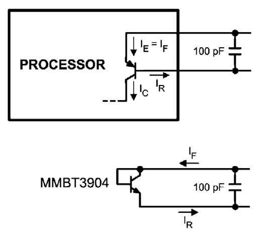Figura 1: diodo termico e transistor in configurazione a diodo per misure di temperatura.