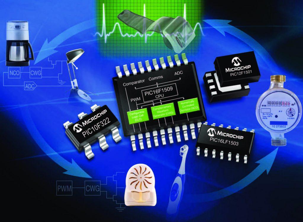 Figura 1: i nuovi micro di Microchip integrano un'architettura standard e nuove periferiche configurabili.