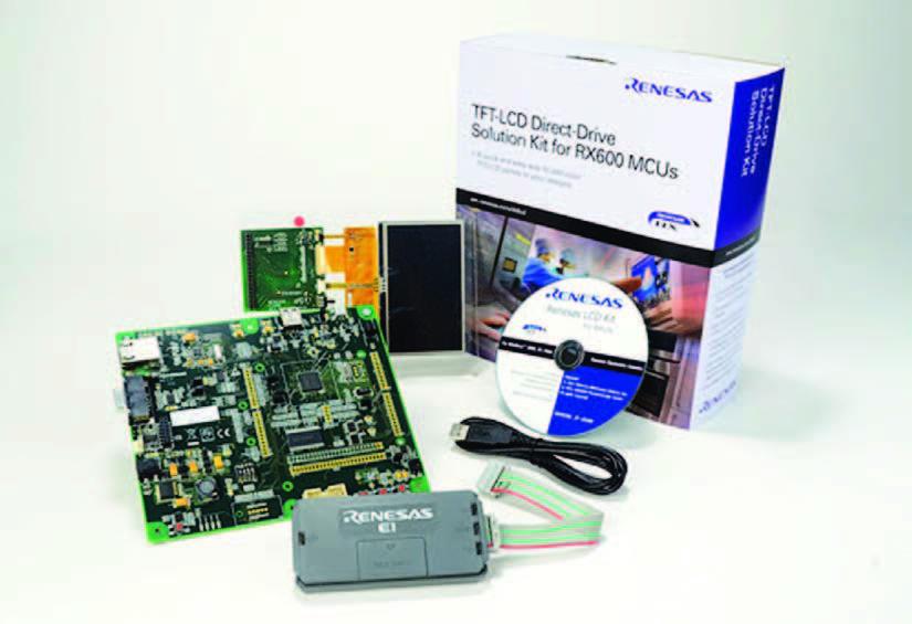 Figura 3: il kit di valutazione della tecnologia DirectDrive con micro RX62N.
