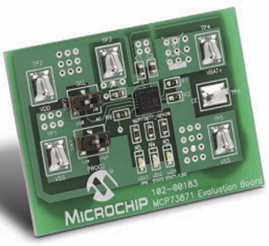 Figura 3: microchip rende disponibile una scheda di valutazione per il MCP73871